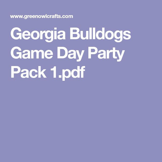 Georgia Bulldogs Game Day Party Pack 1.pdf
