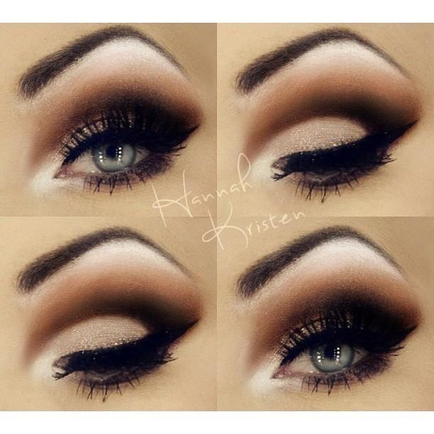 Beautiful dark brown smokey eye by hannahkristen