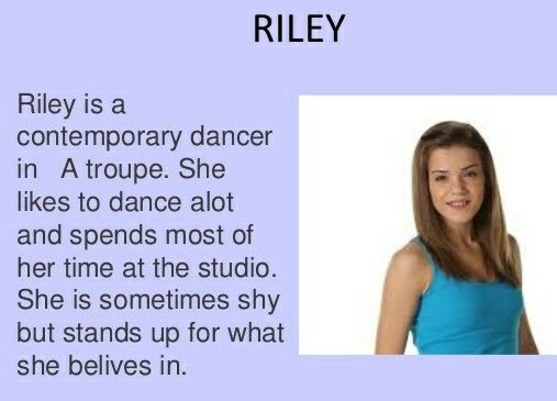 Season 1 some good information about Riley.