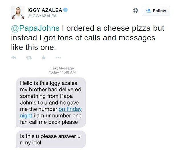 Iggy Azalea tells Ryan Seacrest about Papa Johns delivery man ...