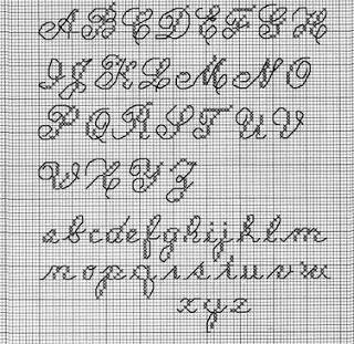 hybrid backstitch/cross stitch alphabet
