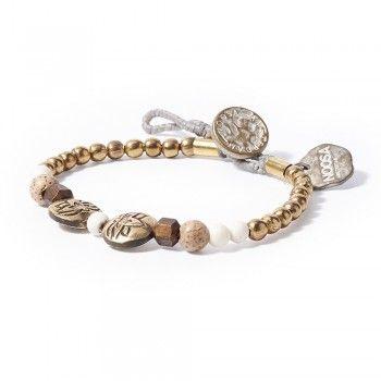 Noosa Unisex Armband water nymphs lotus bracelet bone (knochen/ weiß)