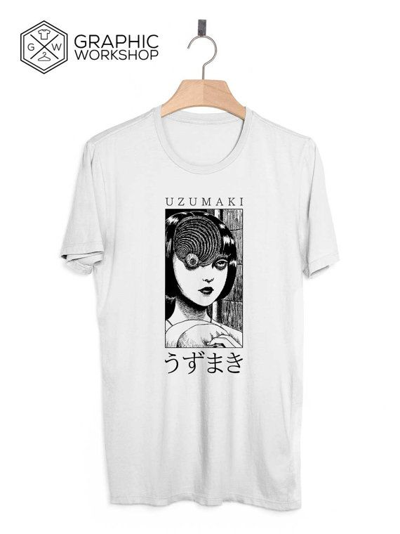 Uzumaki T-Shirt // Junji Ito Suehiro Maruo by GraphicWorkshopStore