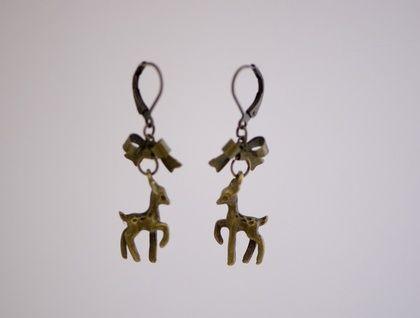 Deer Bow Earrings