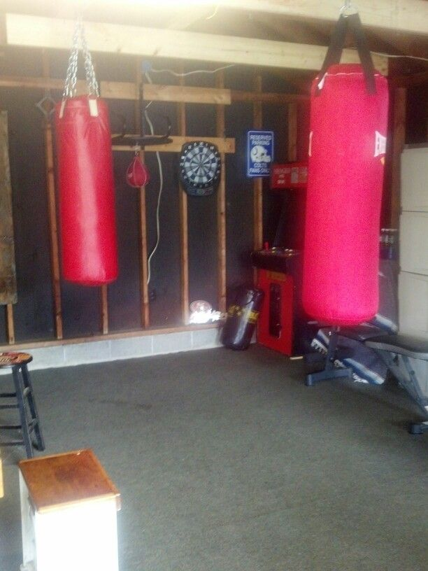 Boxing gym mancave pinterest