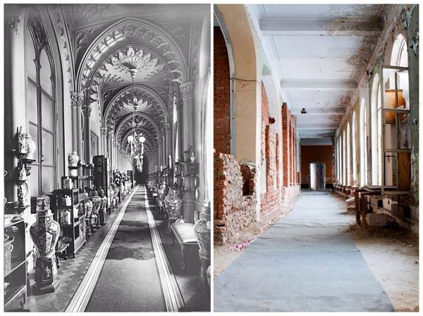 Livadia Palace, Crimea : then and now