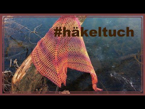 Tuch häkeln, Sonnenaufgang, Dreieckstuch - YouTube
