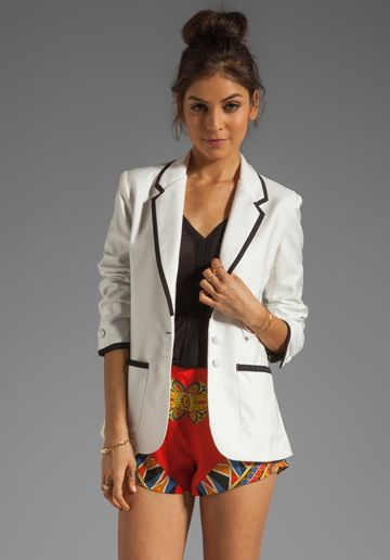 Lovers + Friends x BECAUSE IM ADDICTED Addicted to Love Blazer in Cream $246.00