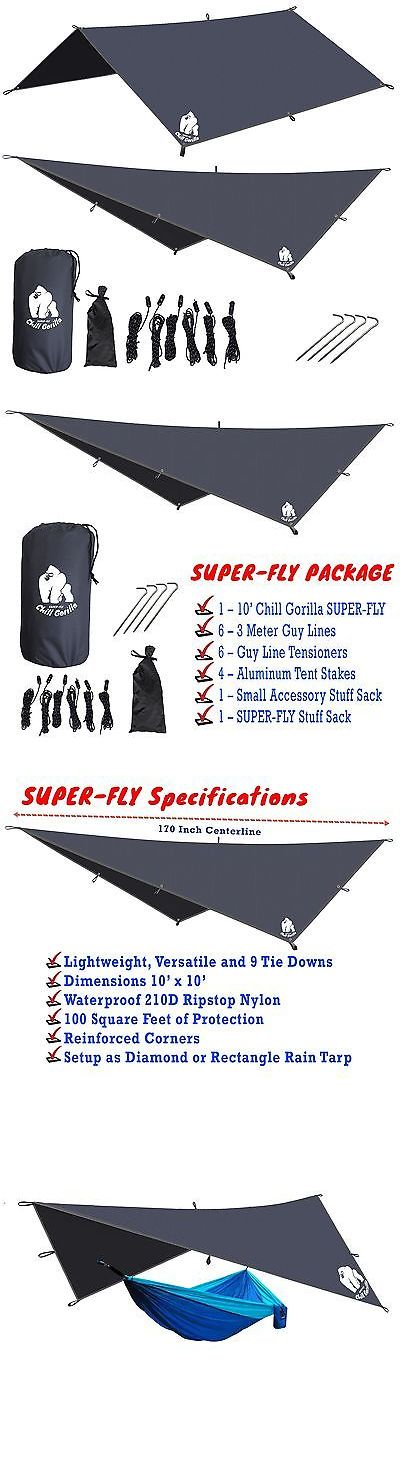 Tent and Canopy Accessories 36120: New Chill Gorilla 10 Super-Fly, Grey Waterproof Tent Tarp, Rain Fly, Hammock... -> BUY IT NOW ONLY: $33.99 on eBay!