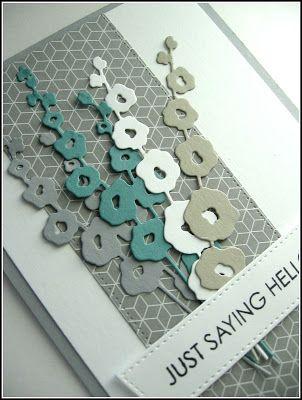 stamping up north Stampin Up designer paper, Impression obsession holly hocks, MFT blueprints #20