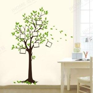 Cute W nschen Baum Fotorahmen Wandtattoo Kinderzimmer Schlafzimmer Wohnzimmer JM Amazon de K che u Haushalt