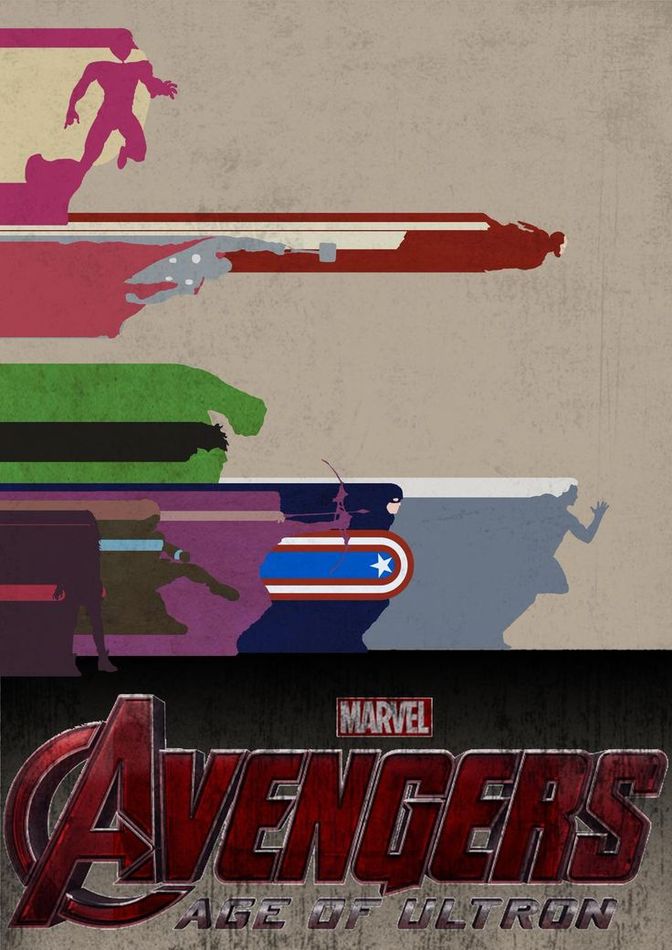 My own Avengers: Age Of Ultron poster design; Captain America, Iron Man, Thor, Hulk, Hawkeye, Black Widow, Quicksilver, Scarlet Witch, The Vision..