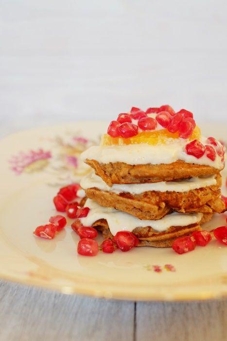 Fräulein M. kocht!: Maronenpancakes mit Orangenquark