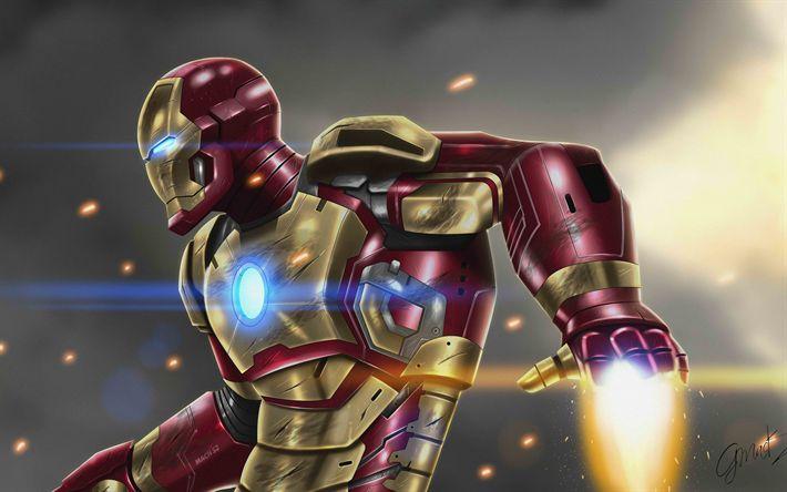Download wallpapers 4k, Iron Man, art, superheros, IronMan