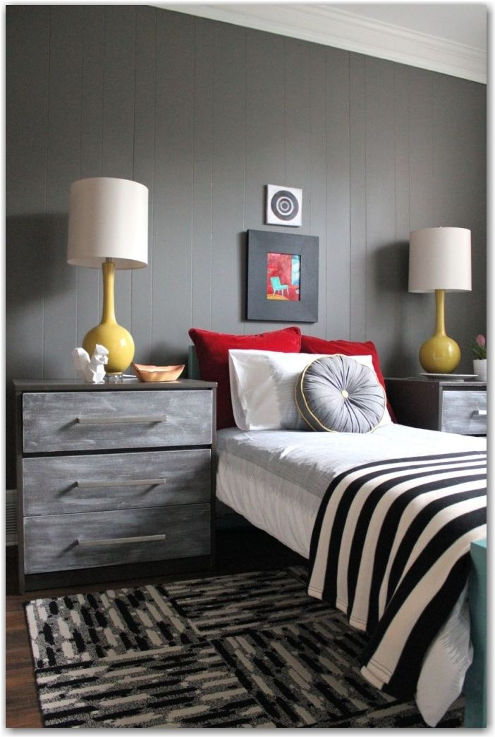 1000 ideas about grey red bedrooms on pinterest gray - Red black and grey bedroom ideas ...