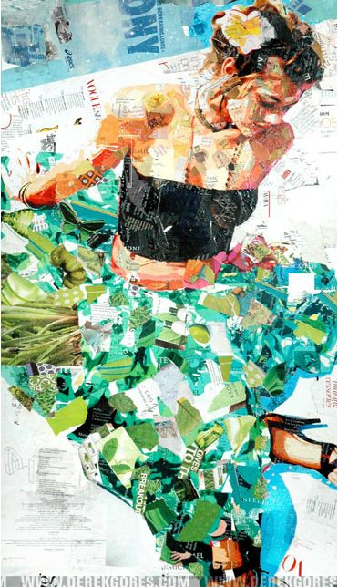 torn paper. or paint ON newspaper...(next project)