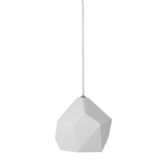 Bloomingville witte geometrische hanglamp 75800001