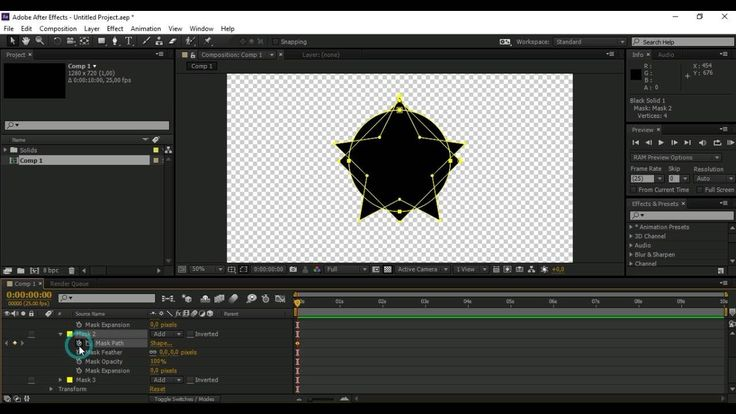 Tutorial Membuat Morphing Mask Shapes di After Effects