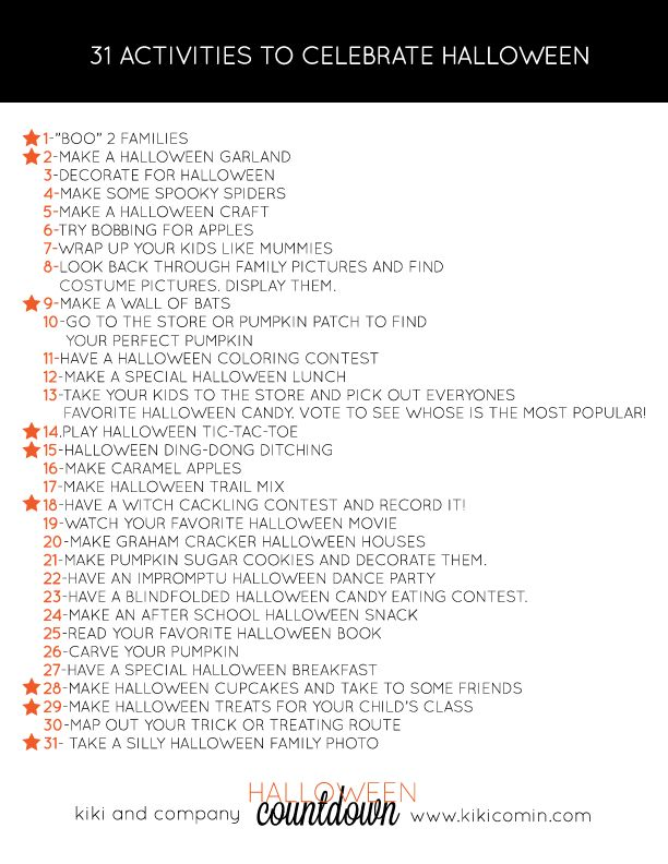 31 ACTIVITIES TO CELEBRATE HALLOWEEN AT KIKI AND COMPANY