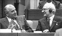 Mikhail Gorbachev - Gorbachev with Erich Honecker, East Germany Wikipedia, the free encyclopedia