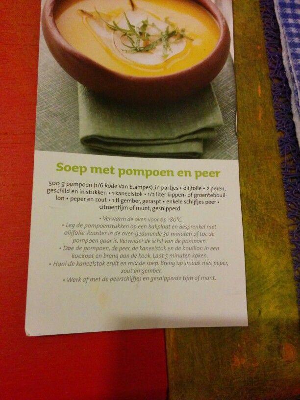Pompoen peer soep