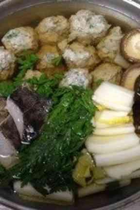 出汁から作るつみれ鍋の画像