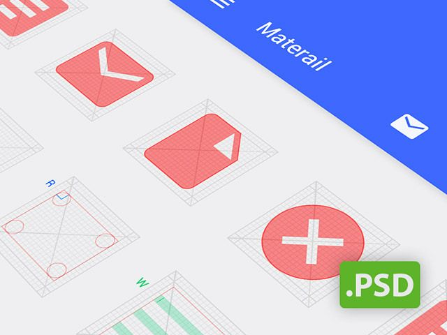 A useful PSD template providing grids for designing Android icons. Free PSD released by Jiangping Hsu.