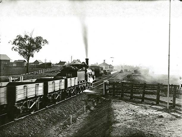 Blacktown Railway Station, station building before demoliton  c.1885  Records.NSW
