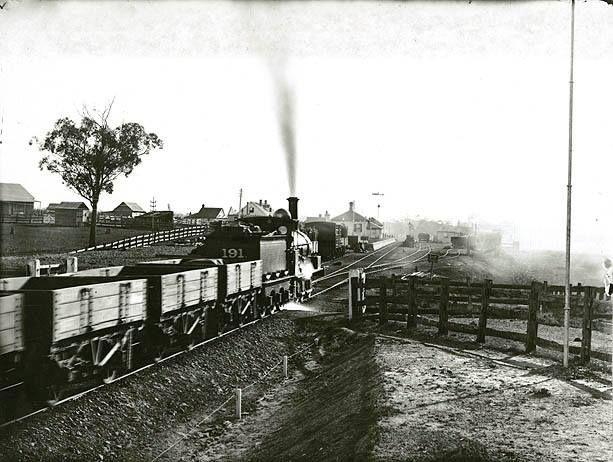 Blacktown Railway Station, station building before demoliton  c.1885  Records.NSW