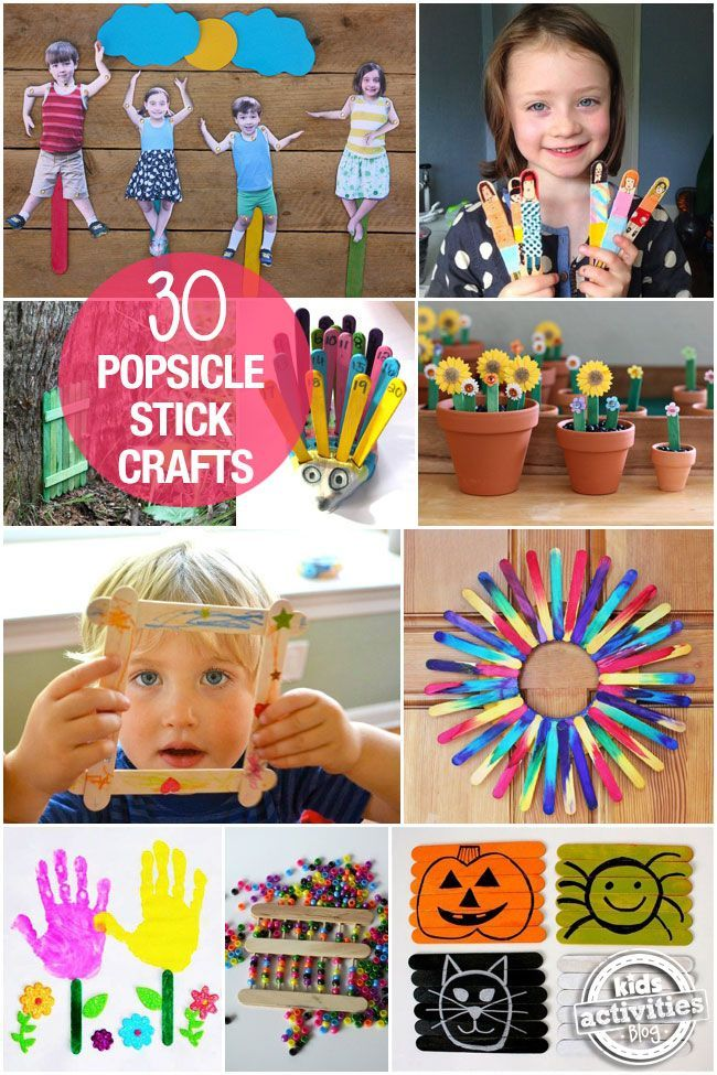 Some of the best kids crafts with popsicle sticks.  There are endless possibilities with these!