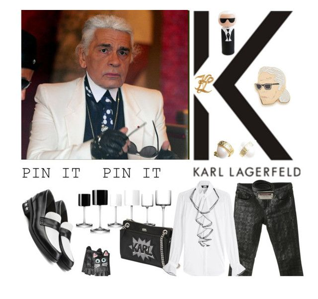 """""""Absolute rarity! Karl Lagerfeld without sunglasses"""" by kapua-blume ❤ liked on Polyvore featuring Karl Lagerfeld, Georgia Perry, men's fashion and menswear"""