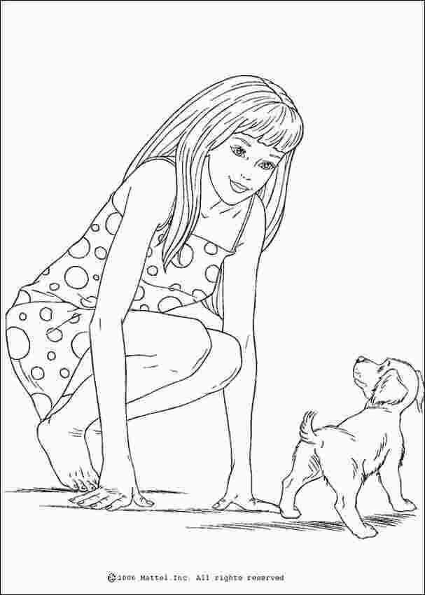 Barbie And Dog Coloring Pages Barbie Coloring Pages Dog Coloring Page Cartoon Coloring Pages