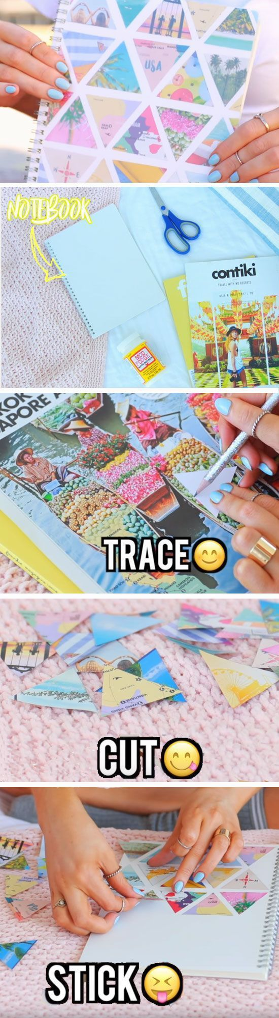 DIY Life Hacks & Crafts : Collage Notebook | DIY School Supplies for Teens Highschool