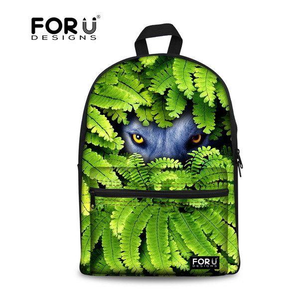 Школьные сумки марка рюкзаки животных глаза печать для студент колледжа волчья голова ранцы Mochila Feminina хомбре