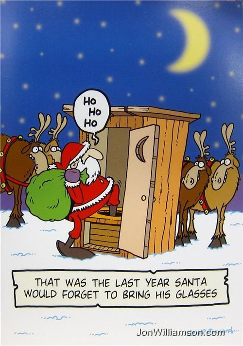 That was the Last Year Santa Would Forget to Bring His Glasses! Funny Christmas joke picture