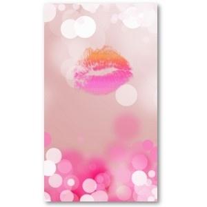 Make Up Artist Business Card Pink Lips & Lights