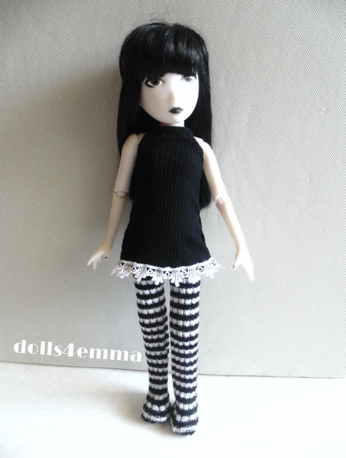 """STRANGE DAZE"" - Dress and Leotards for Emily the Strange - available on ebay by dolls4emma"