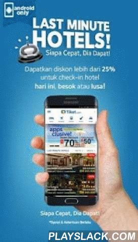 Tiket.com - Hotel & Pesawat  Android App - playslack.com ,  +++++++++++++++++++++++++++++THE BEST APPLICATION TO TRAVEL+++++++++++++++++++++++++++++*****TOP BRAND AWARD 2015**********INDONESIA MIDDLE-CLASS BRAND CHAMPION 2015 - SWA*****Tiket.com provide solutions selling flight tickets, booking hotel, concert tickets and attractions, amusement parks, train tickets and rental cars.FLIGHT TICKETTiket.com provides cheap tickets of many airlines: Sriwijaya Air, Lion Air, Citilink, Garuda…