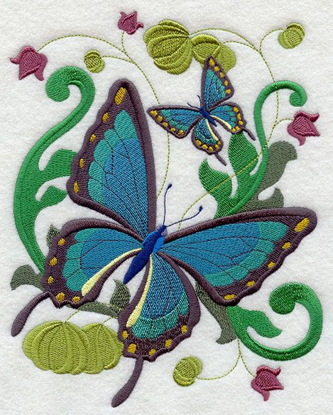 Victorian Flutterby 6 design (E3972) from www.Emblibrary.com