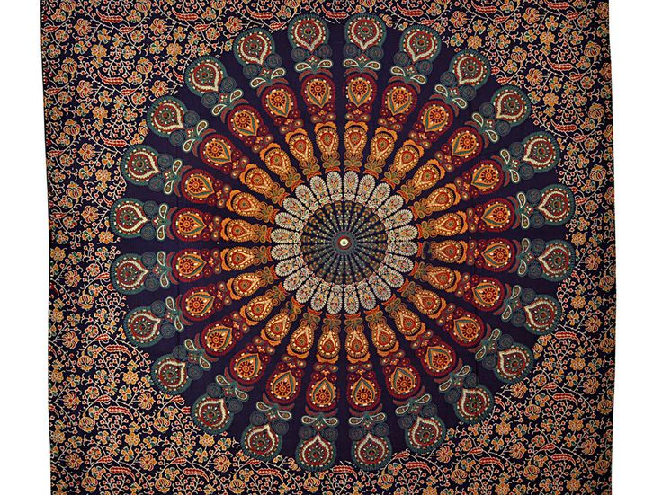 Indian Mandala Twin Tapestry Hippie Tapestries Wall Hanging table cover curtain #Unbranded #ArtDecoStyle