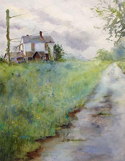 Abandoned by Judy Mudd Watercolor ~ 16 x 12