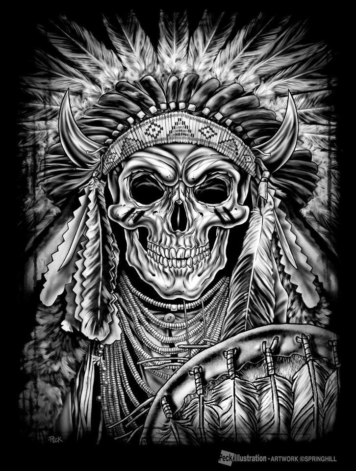 картинки на телефон черепа индейцев