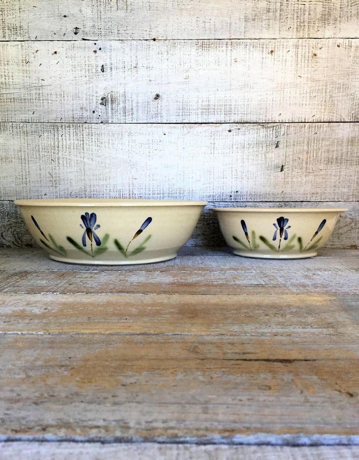 Serving Bowl Set Nesting Serving Bowl Set of 2 Ceramic Bowls Pottery Mixing Bowl Studio Pottery Ceramic Handmade Serving Set Farmhouse Chic by TheDustyOldShack on Etsy