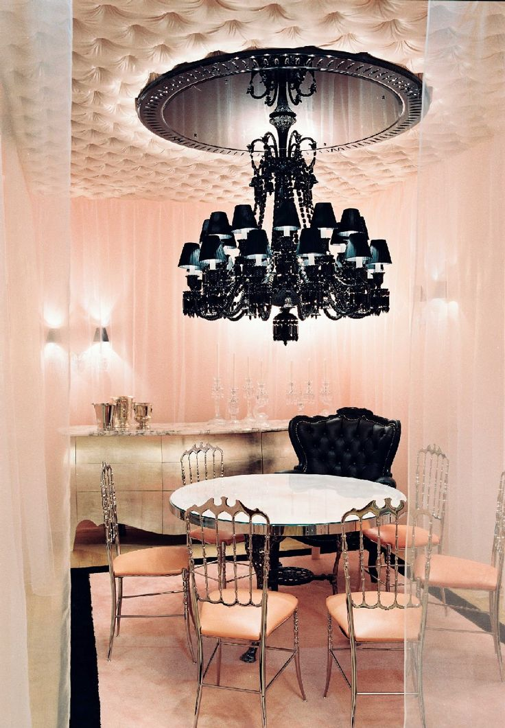 Baccarat cristal room philippe starck has preserved its original chic and elegance while lending