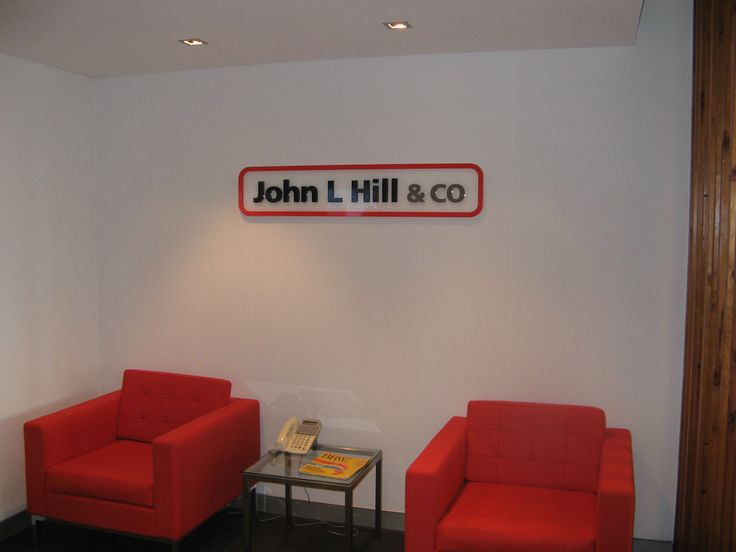 John L Hill and Co #CSI #reception #signage