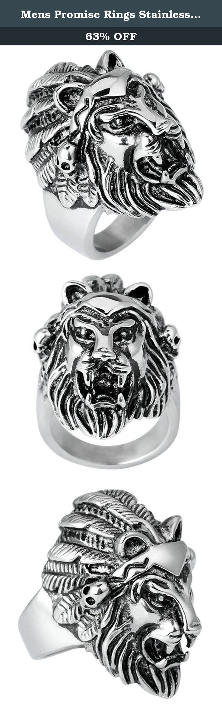 Mens Promise Rings Stainless Steel Silver Black Punk Gothic The Lion King Size 12 by Aienid. Why Need the Rings? As Now It is a Modern Society,and Ring is One of Kind Things That can Show Up Your Senior Fashion and Taste.They Can Accent Your Dressing and Add You more Attractiveness, Making You Looks more Confident and Rational. Besides,Rings also can Show Your Love and Promise to Someone Why Choose Aienid Rings? As Aienid's Rings are not only in Lean Workmanship, Excellent Quality But…