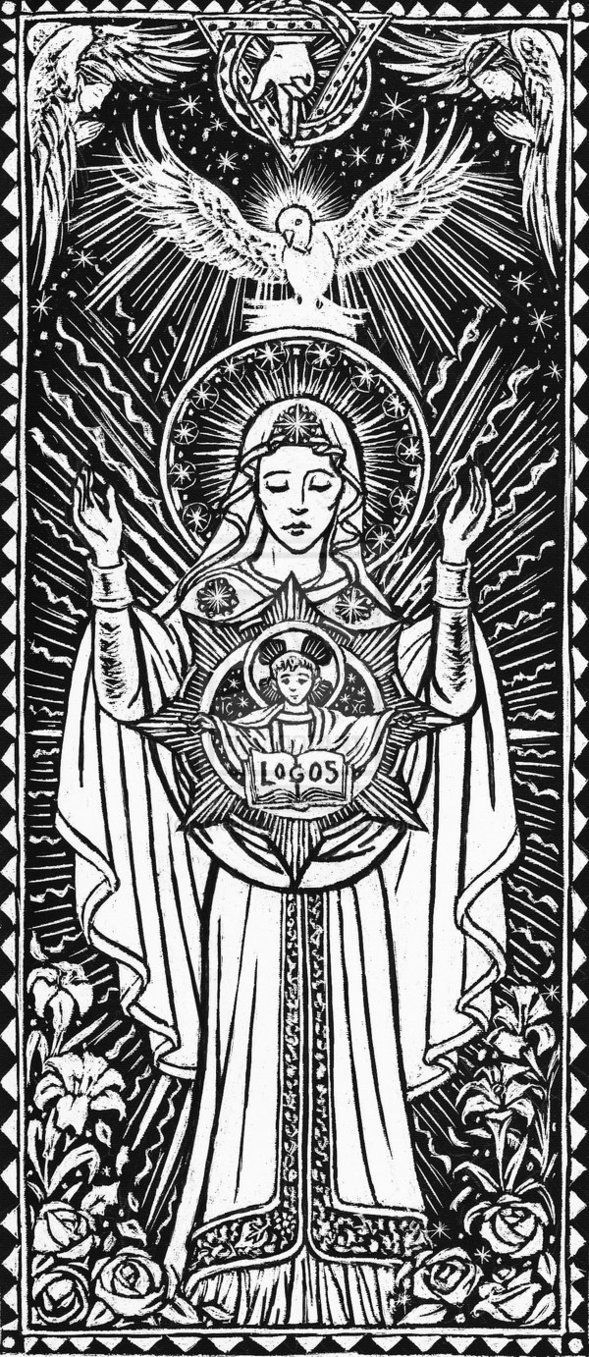 Line Drawing Virgin Mary : Images about marÍa santÍsima holy mother on