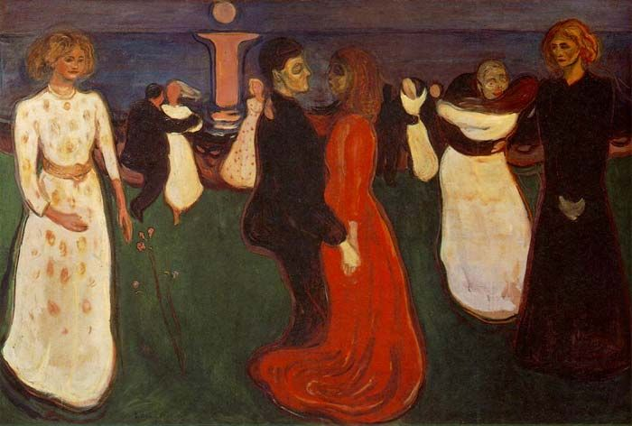 *** Edward Munch - Tanec života (symbolismus!)