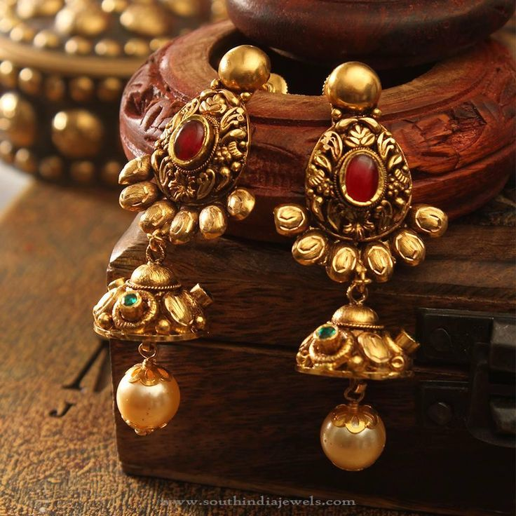 Rosamaria G Frangini | High Ethnic Jewellery | Big Gold Earrings, Big Gold Antique Earrings Designs, 22K Gold Antique Earrings.