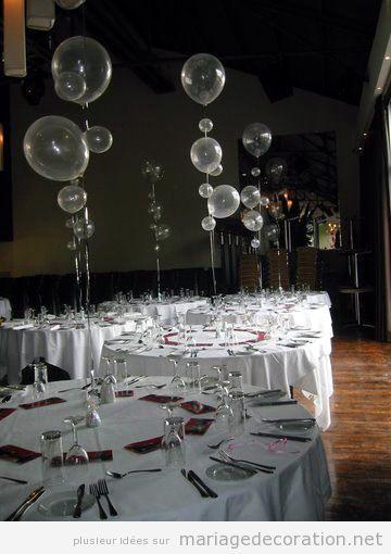 Idées décorer salle mariage avec des ballons de hélium: